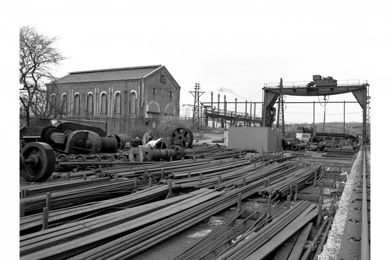 Glengarnock Steel Works View of spares store and old power station