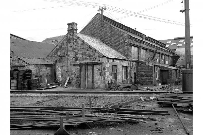 Glengarnock Steel Works, Smithy View of rear of building