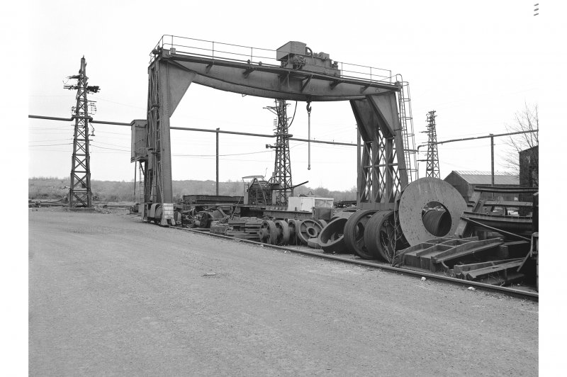 Glengarnock Steel Works, Spares Bay View of Goliath crane
