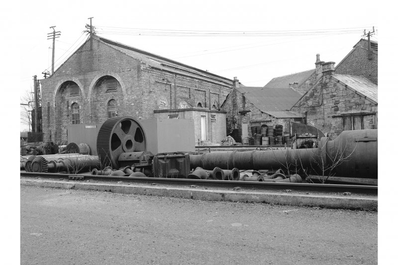 Glengarnock Steel Works View of rear of spares shop