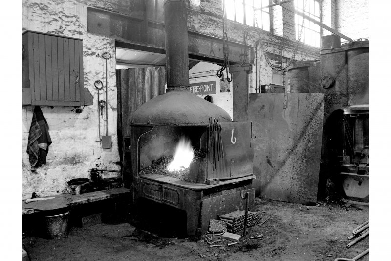 Glengarnock Steel Works, Smithy; Interior View of fires