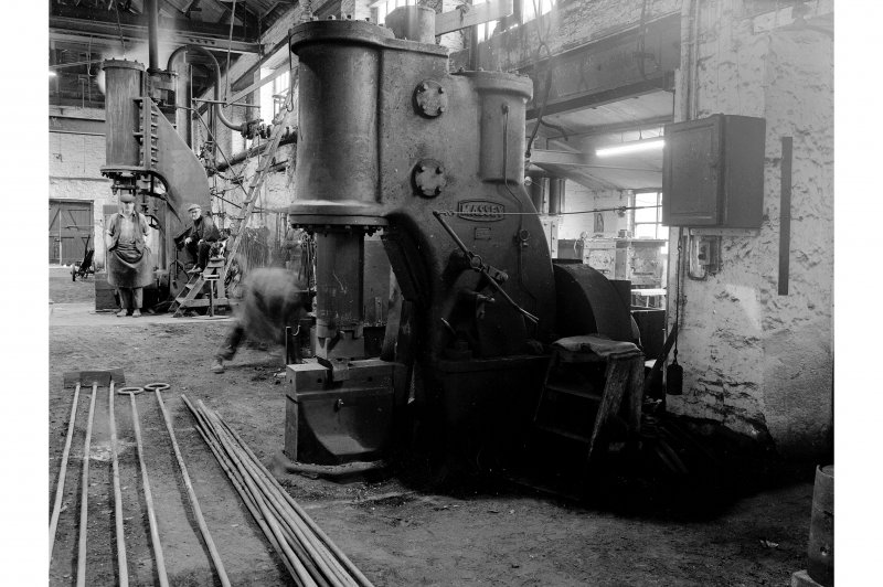 Glengarnock Steel Works, Smithy; Interior View of Massey air hammer