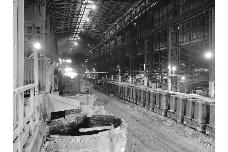 Glengarnock Steel Works, Melting Shop View of pit side and ingot cars
