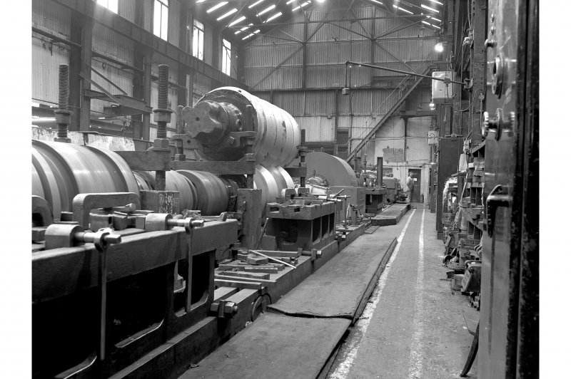Glengarnock Steel Works, Roll-Turning Shop; Interior View of Murray and Paterson roll turning lathe