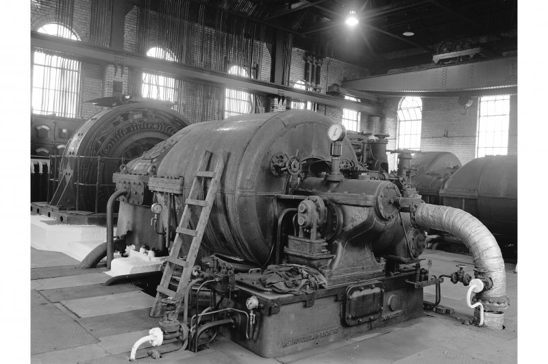 Glengarnock, Steel Works, Power Station View of No.1 turbogenerator (2.5 mW, built 1941, no.179209)