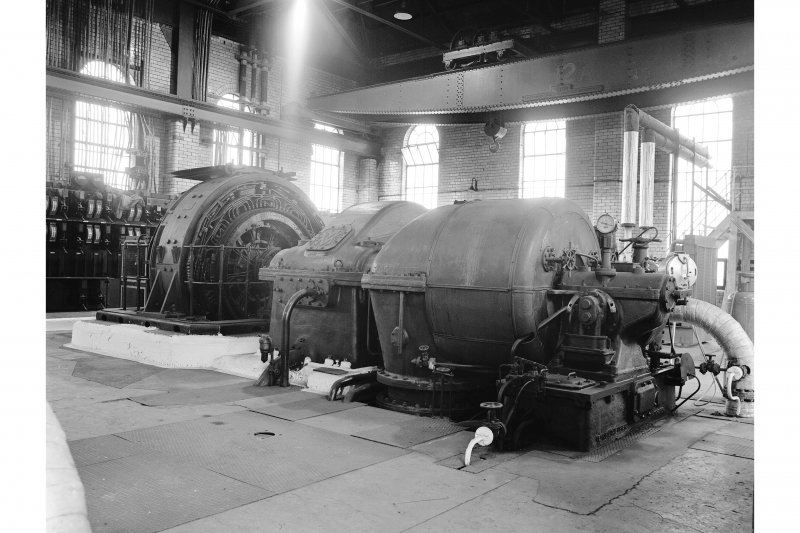 Glengarnock Steel Works, Power Station View of No.2 turbogenerator (2.5 mW, built 1944, D 210666/3/51)