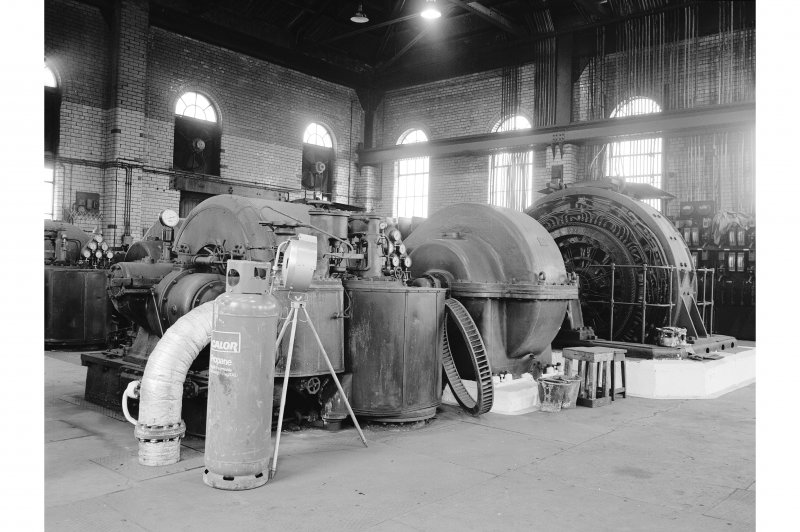 Glengarnock Steel Works, Power Station View of No.2 turbogenerator (2.5 mW, built 1944, No.D210666/3/51)