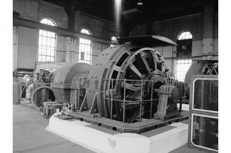 Glengarnock Steel Works, Power Station View of No.2 turbogenerator, (2.5mW, built 1944, D210666/3/51)
