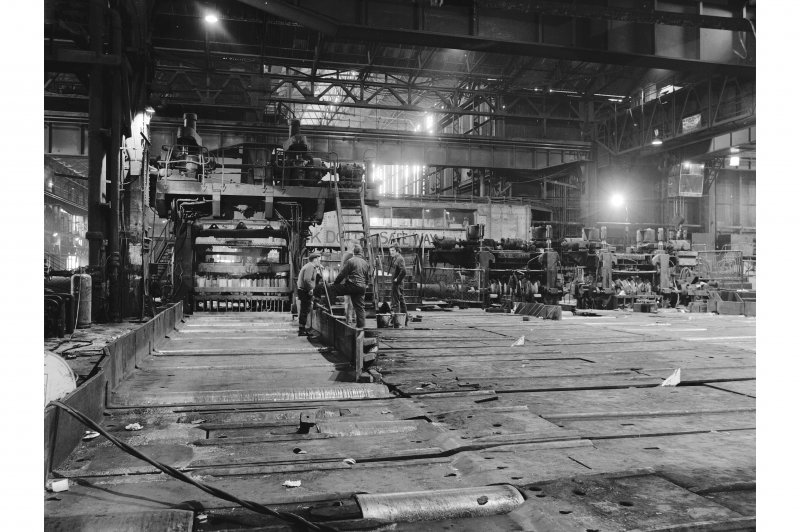 Glengarnock Steel Works, Billet Mill and Finshing Stands General View