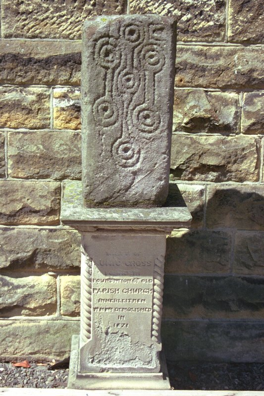 Innerleithen Parish Church  Photograph of cross-shaft