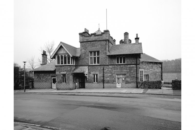 South elevation of Edinburgh Sports Club, formerly Drumsheugh Toll House, Belford Road.