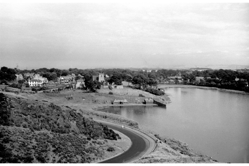 Duddingston General view of village from West