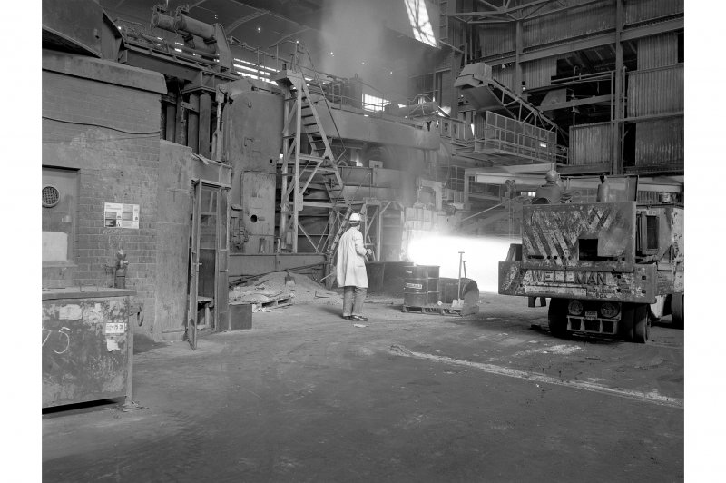 Hallside Steelworks, Interior View showing electric arc furnace (120 ton)
