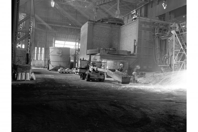 Hallside Steelworks, Interior View showing charging machine
