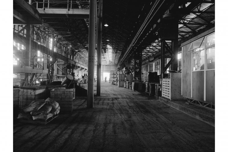 Hallside Steelworks, Interior View showing old open hearth melting shop