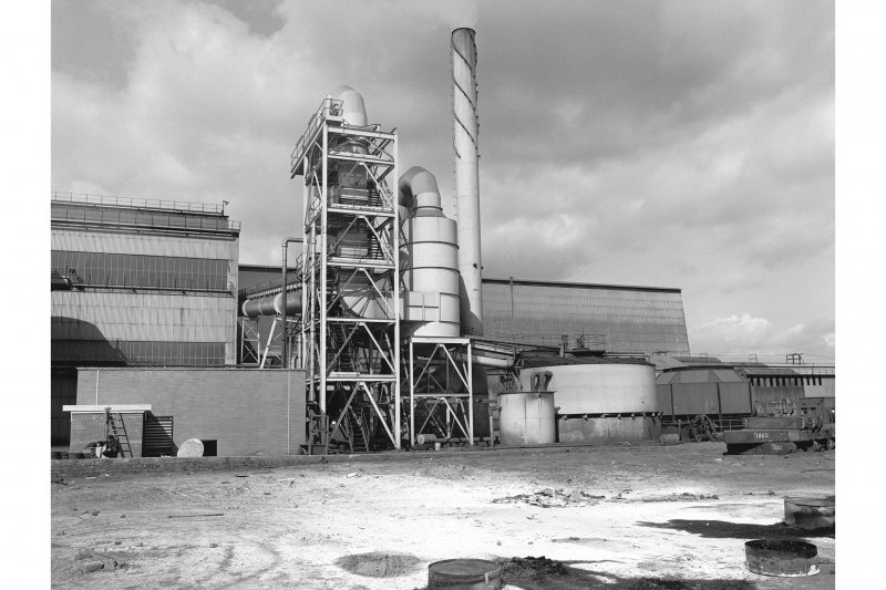 Hallside Steelworks View showing fume treatment plant