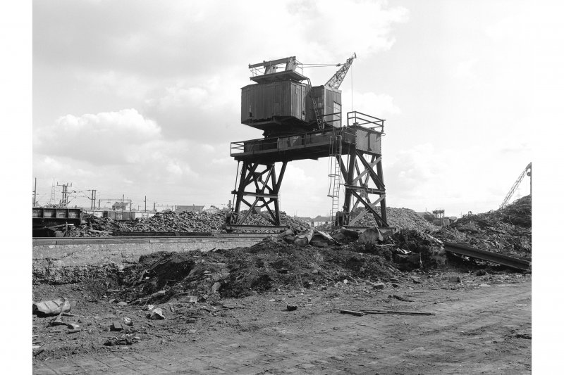 Hallside Steelworks View showing wharf crane, said to be ex Grangemouth, Ransomes and Rapier 1917