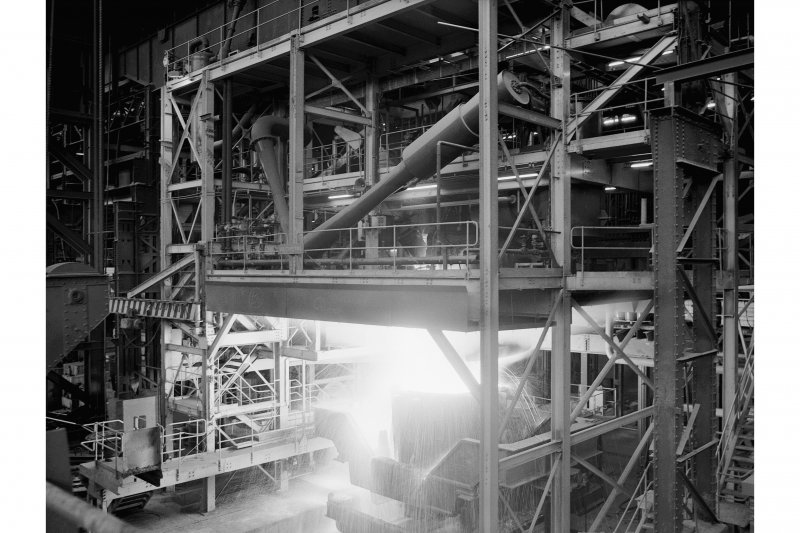 Hallside Steelworks, Interior View showing vacuum degasser which is in operation