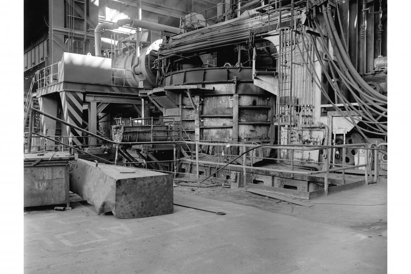 Hallside Steelworks, Interior View showing tap side of 120 ton electric arc furnace