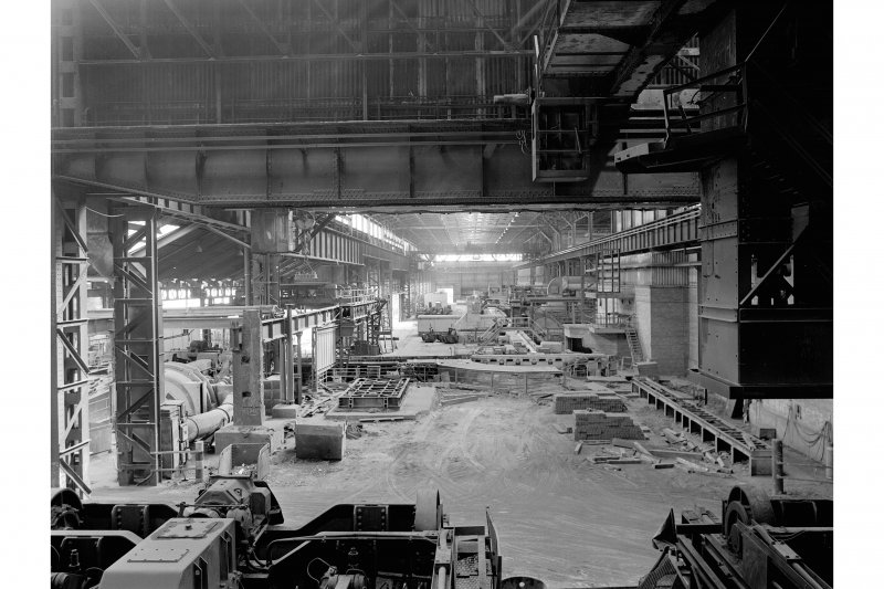 Hallside Steelworks, Interior View showing mill bay from soaking pits