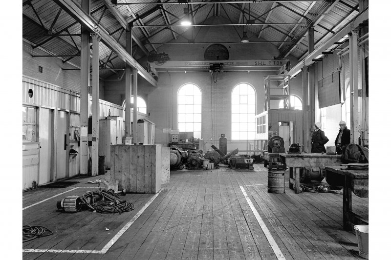 Hallside Steelworks, Interior View showing electricians' shop (ex power station)