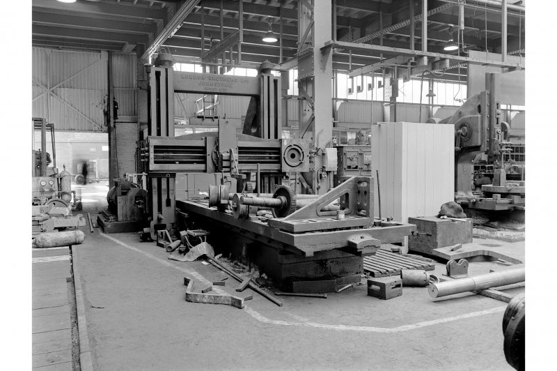 Hallside Steelworks, Interior View of engineers' shop showing Loudon planning machine (incomplete)