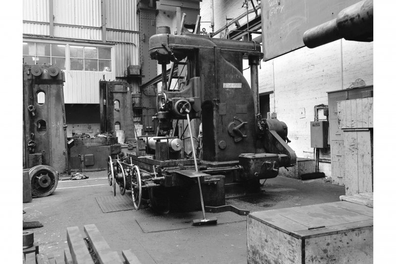 Hallside Steelworks, Interior View of engineers' shop showing circa 1930 Reed Prentice (Worcester Mass) milling machine 17302