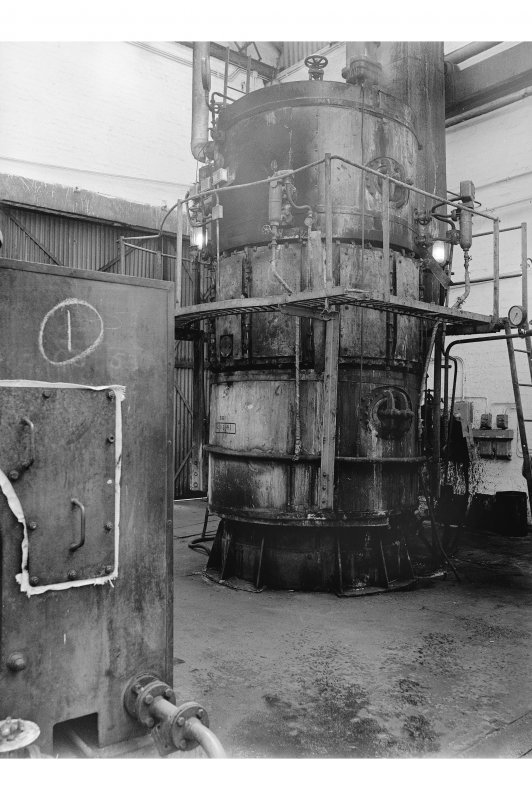 Hallside Steelworks, Interior View showing Marshall and Anderson vertical boiler
