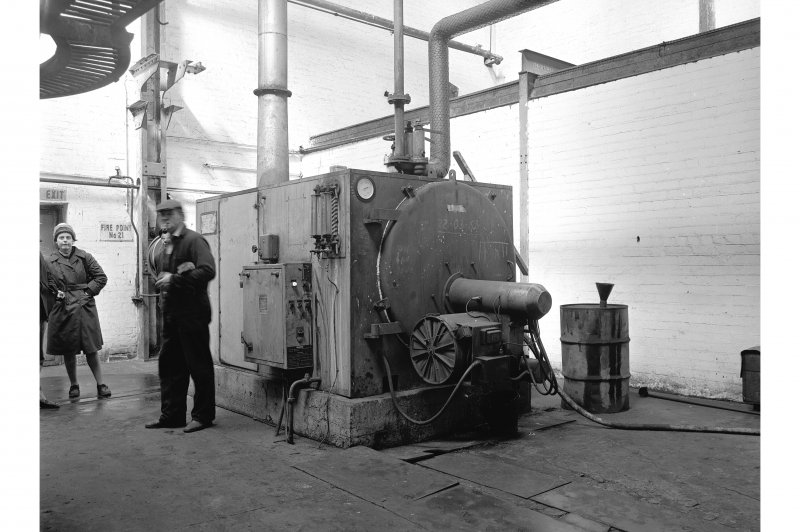 Hallside Steelworks, Interior View showing Wee Chieftain vertical boiler