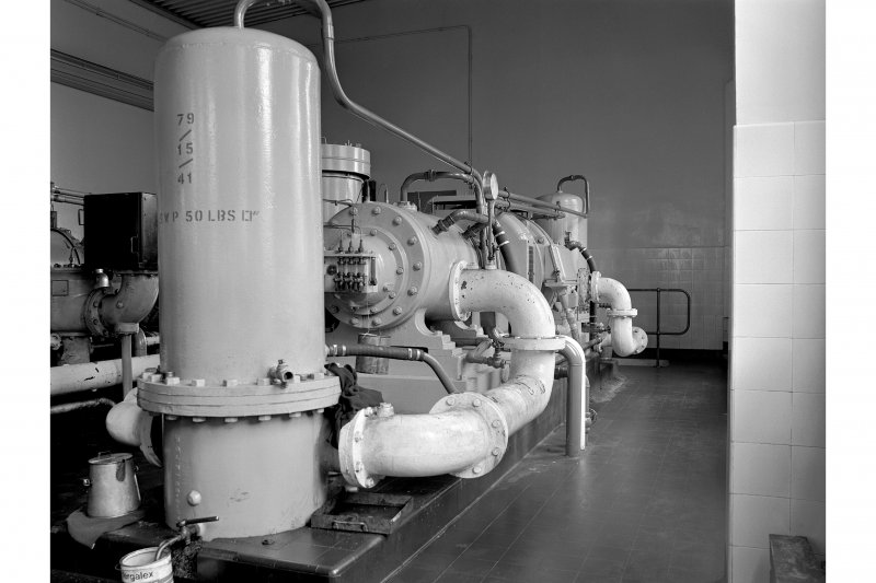Hallside Steelworks, Interior View showing air compressor