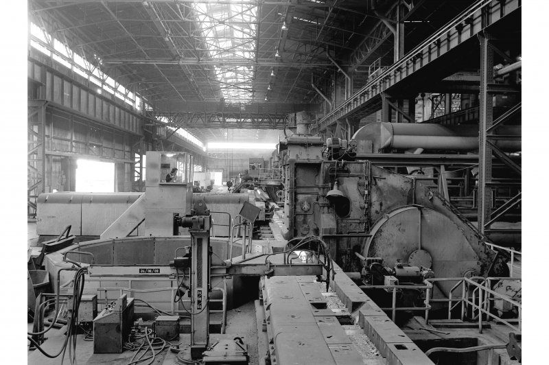 Hallside Steelworks, Interior View showing billet shear