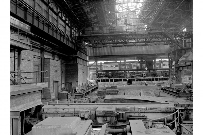 Hallside Steelworks, Interior View showing turntable for cogged ingots