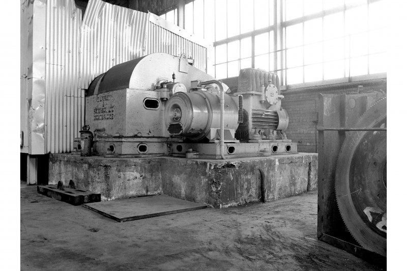 Hallside Steelworks, Interior View showing Headstock, roll-turning lathe, Murray and Paterson