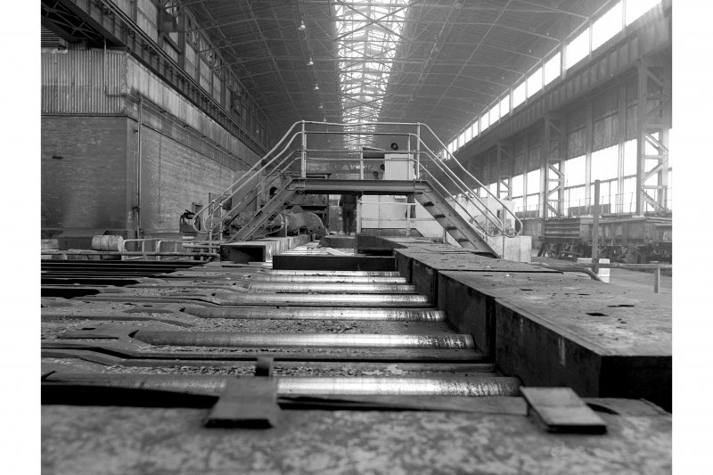 Hallside Steelworks, Interior View looking along mill bay