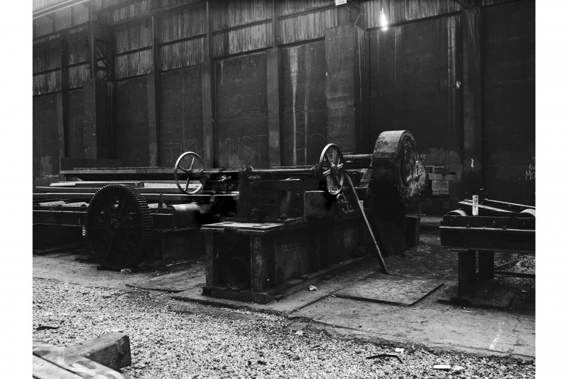 Hallside Steelworks, Interior View showing bar straightening machine, Crow, Hamilton and Company Limited