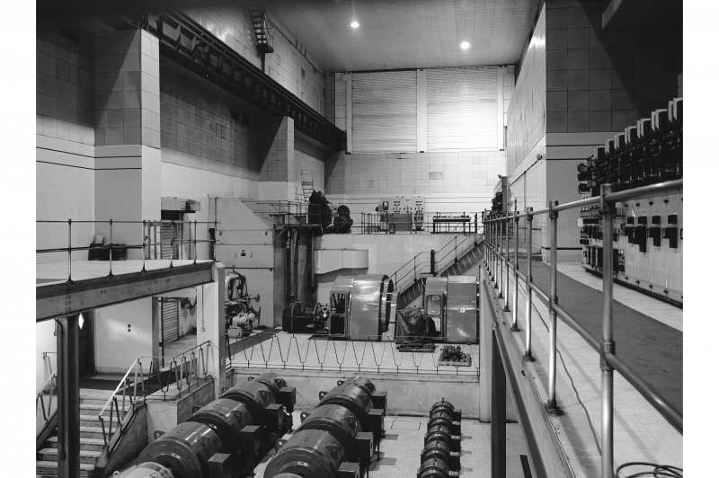 Hallside Steelworks, Interior View of power station with finishing mill motor in centre