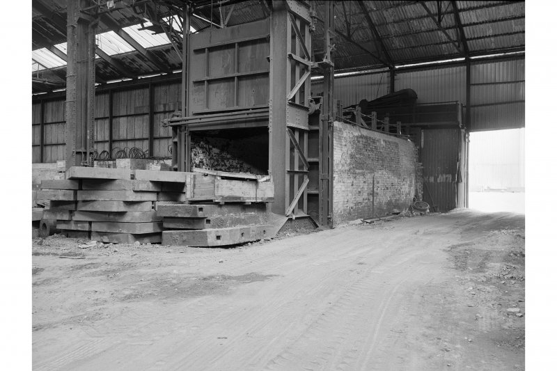 Hallside Steelworks, Interior View of foundry showing stove