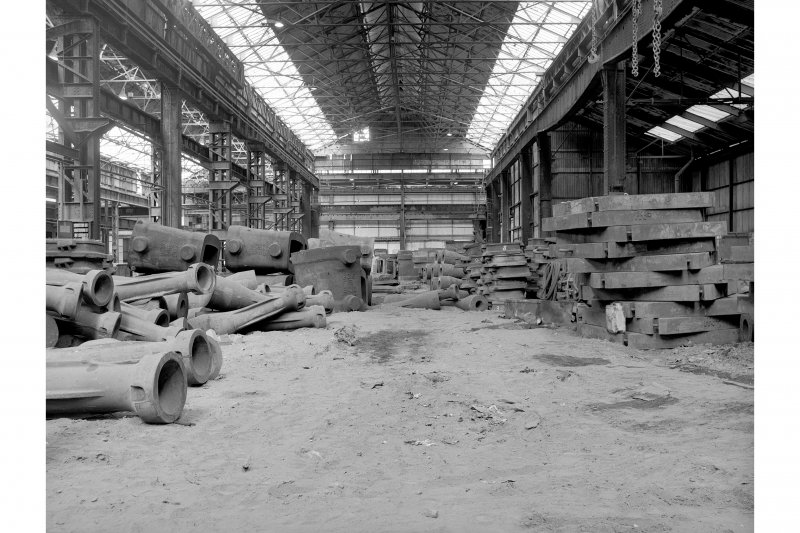 Hallside Steelworks, Interior View of foundry showing one of main bays