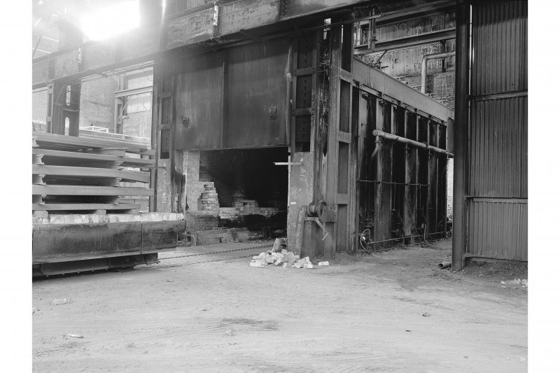 Hallside Steelworks, Interior View of foundry showing annealing furnace