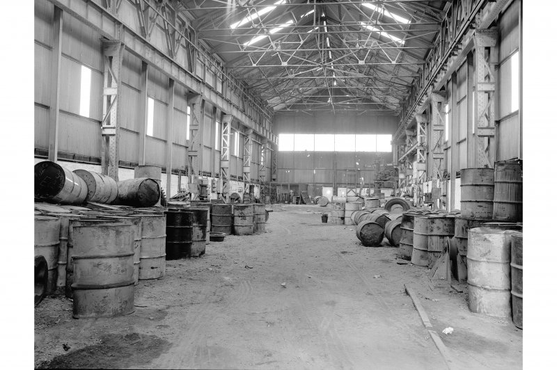 Hallside Steelworks, Interior View of foundry showing dressing shop