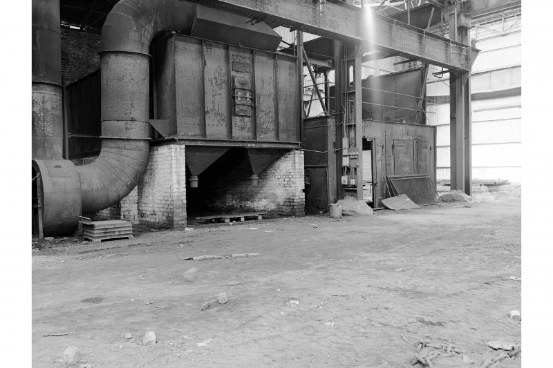 Hallside Steelworks, Interior View of foundry showing Tilghmann shot blasting equipment