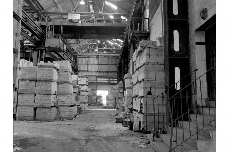 Hallside Steelworks, Interior View of foundry showing Anderson Grice crane