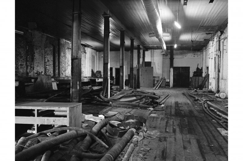Hallside Steelworks, Interior View showing ground floor of old pattern shop