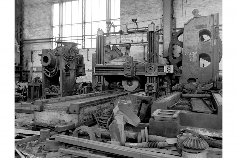 Hallside Steelworks, Interior View of 'Ash Store' showing Urquhart Lindsay, Robertson Orchar Limited planning machine