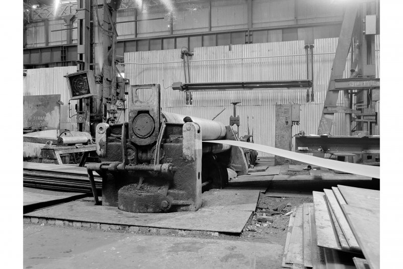 Glasgow, Clydebridge Steel Works, Interior View of boilermakers' shop showing plate bending rolls by James Bennie and Sons Limited