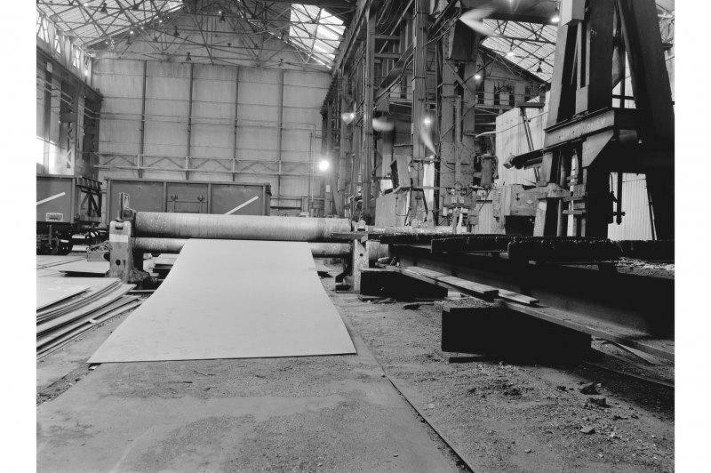 Glasgow, Clydebridge Steel Works, Interior View of boilermakers' shop showing plate bending rolls by James Bennie and Sons