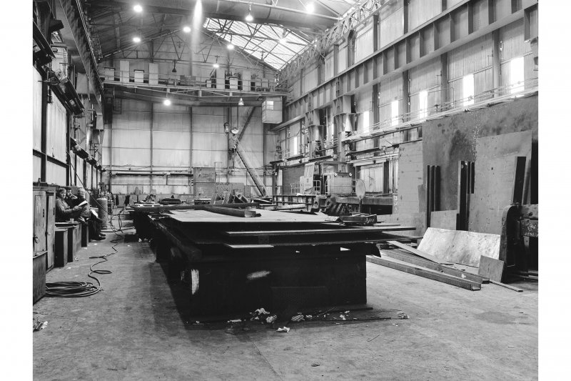 Glasgow, Clydebridge Steel Works, Interior View of boilermakers' shop