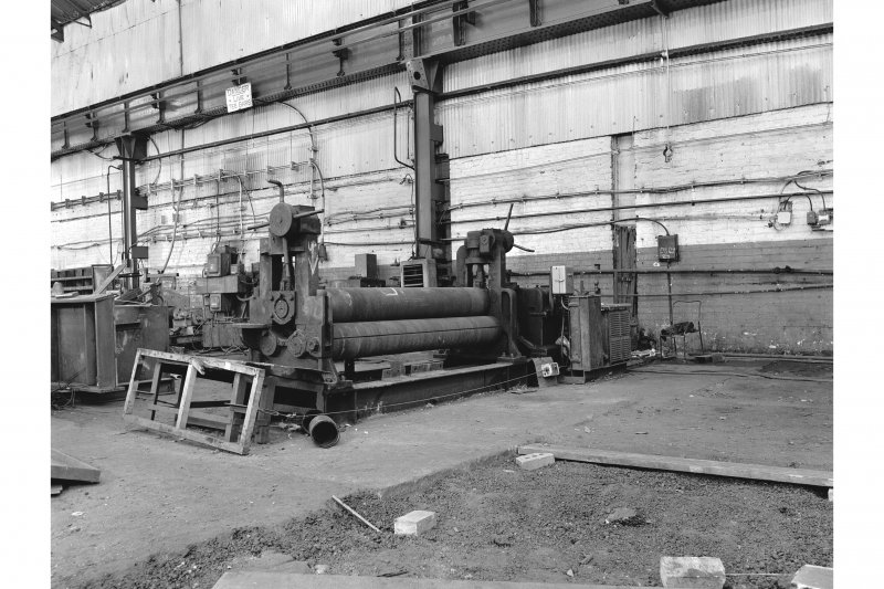 Glasgow, Clydebridge Steel Works, Interior View of plate bending rolls by Hugh Smith Limited, C21981