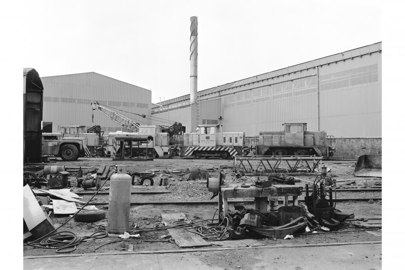 Glasgow, Clydebridge Steel Works View showing locos 'on shed'