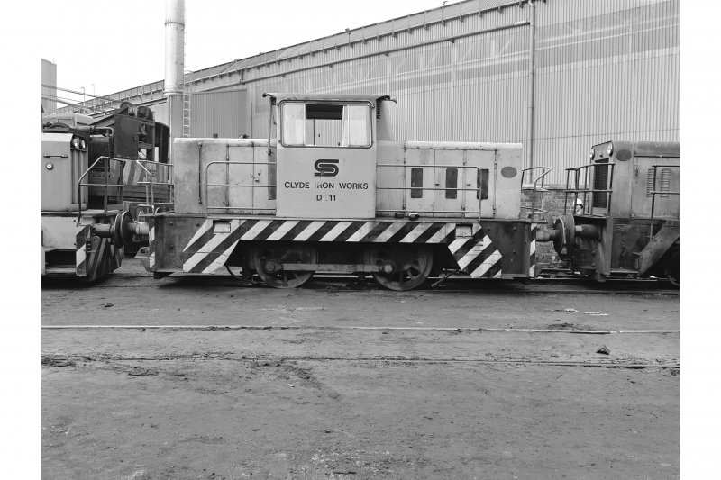 Glasgow, Clydebridge Steel Works View showing Hunslet 040 DH 'on shed' (DH11)